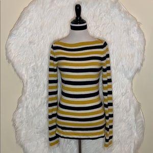 J.Crew Yellow Stripe Sweater Top